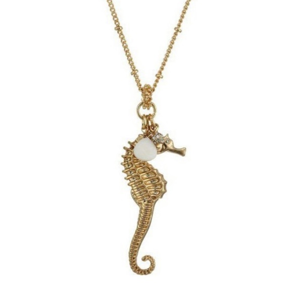 Lily Pulitzer Gold Seahorse Necklace